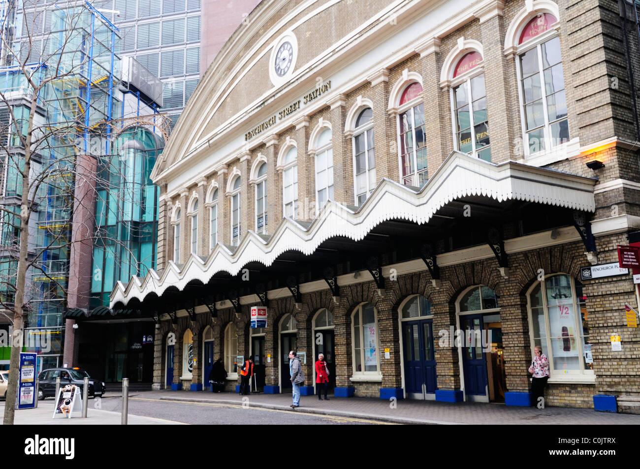 Fenchurch Street Station, London, England, UK - Stock Image