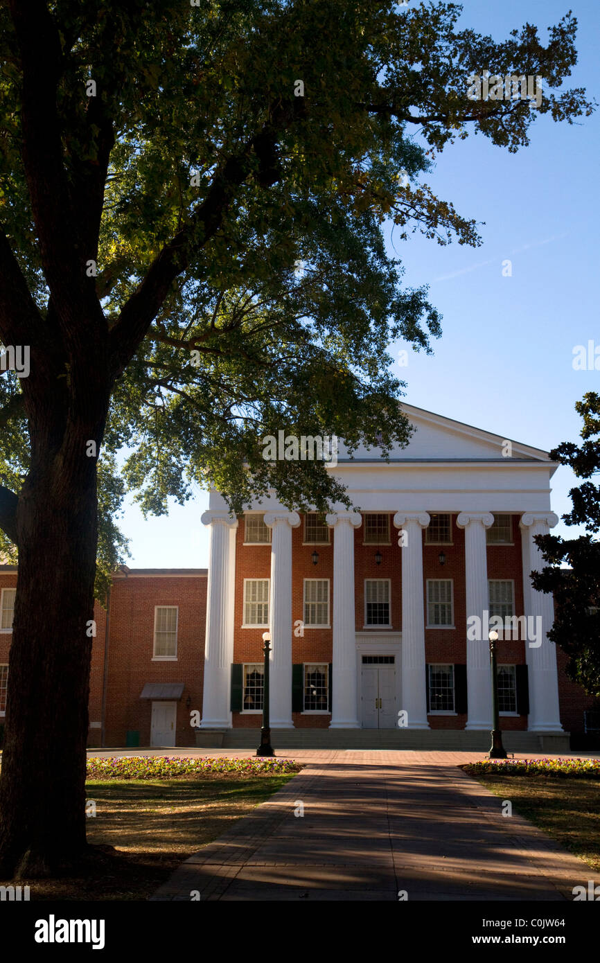The Lyceum is the oldest building on the campus of the University of Mississippi located in Oxford, Mississippi, - Stock Image