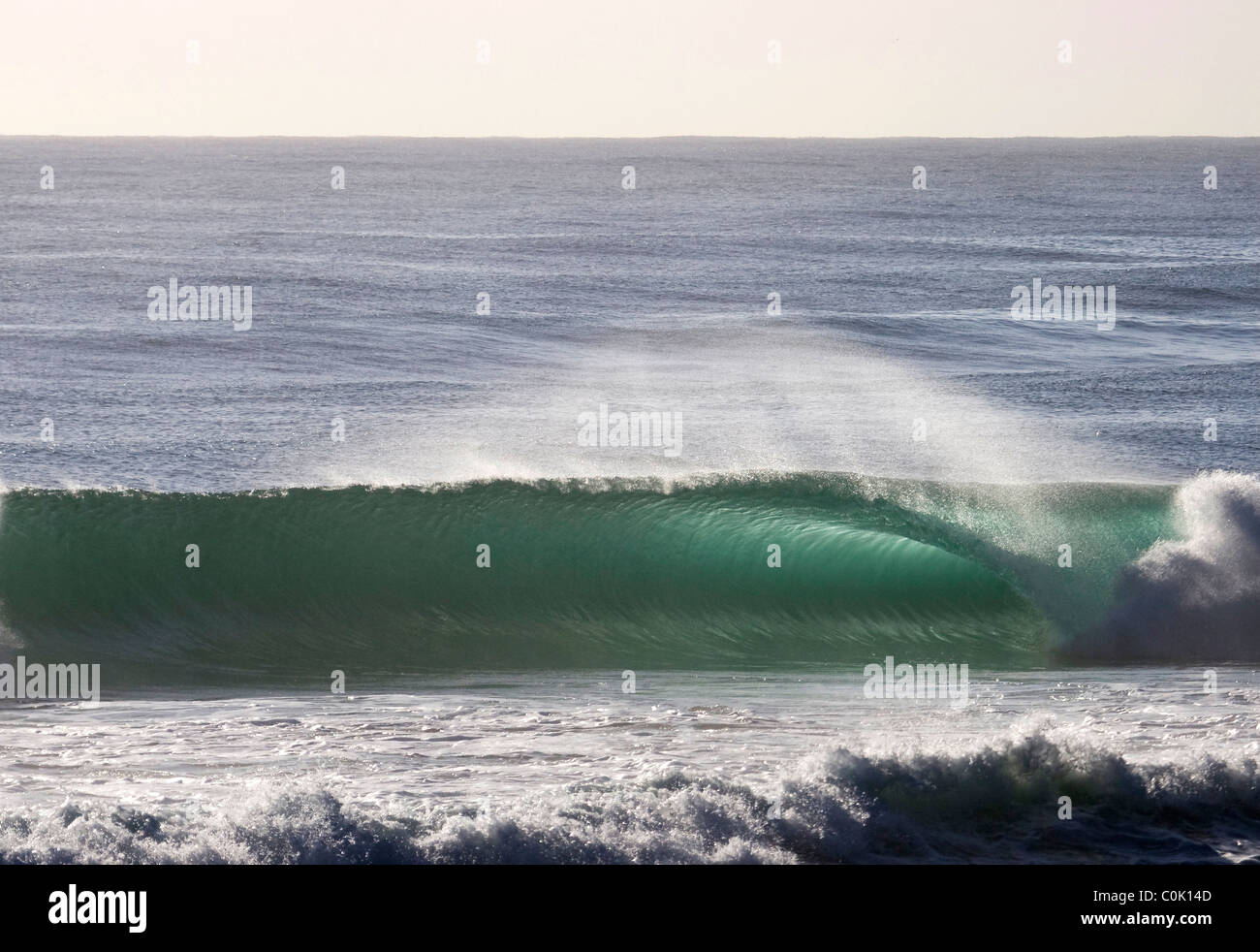Breaking wave at Burleigh Heads Gold Coast Australia - Stock Image