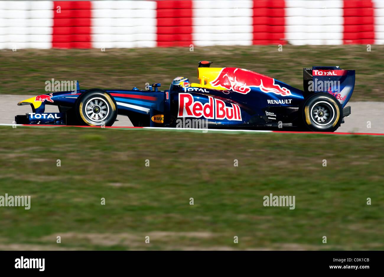 Sebastian Vettel Germany Red Bull Racing Renault RB7 Formula 1 Testing