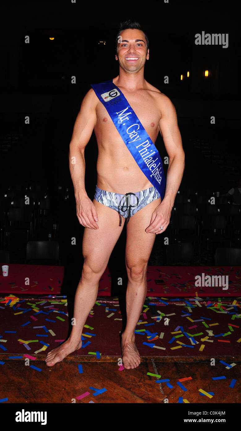 Winner John Caputo Philadelphia Mr. Gay 2008 Competition at the University of the Arts' Levitt Auditorium Philadelphia, Stock Photo