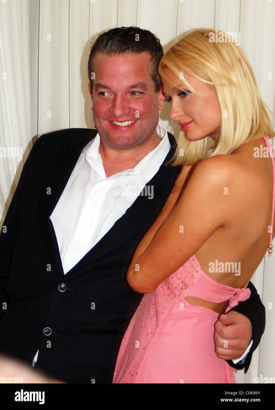 Paris Hilton and Jeff Beacher at Pure nightclub inside Caesers Palace to celebrate the launch of The Paris Hilton Stock Photo