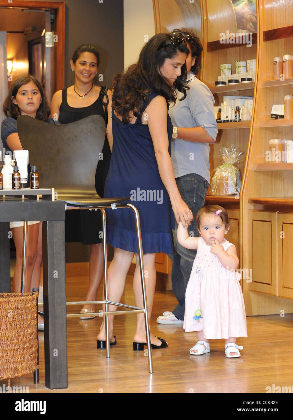 Salma Hayek doing some shopping in Beverly Hills with her