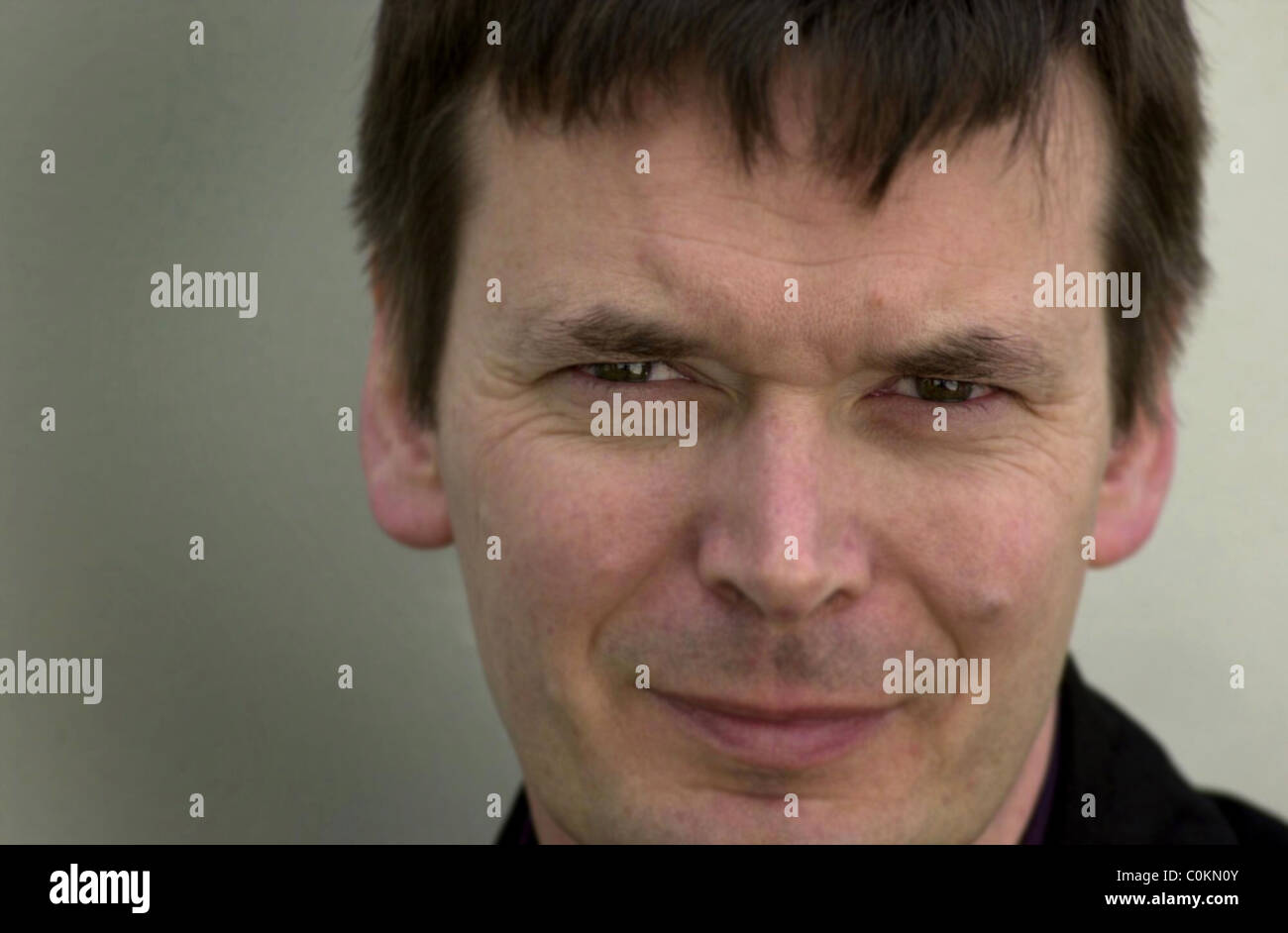 Pictured at the Edinburgh International Book Festival is author Ian Rankin. - Stock Image