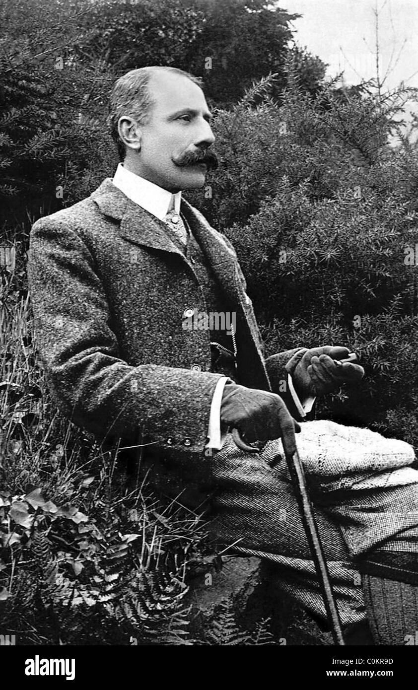 Edward Elgar, English composer - Stock Image
