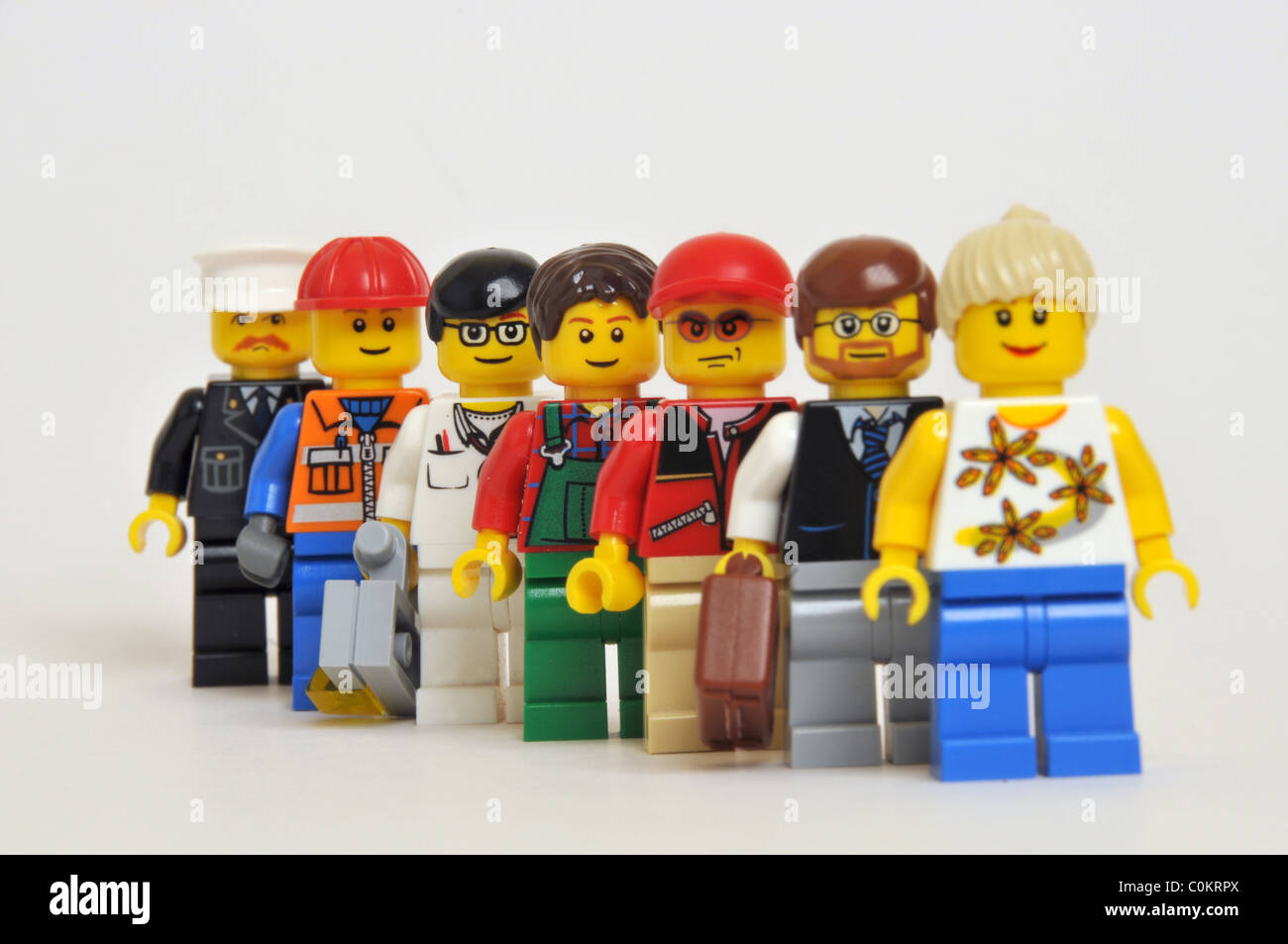 People persons men women professions trade crowd - Stock Image