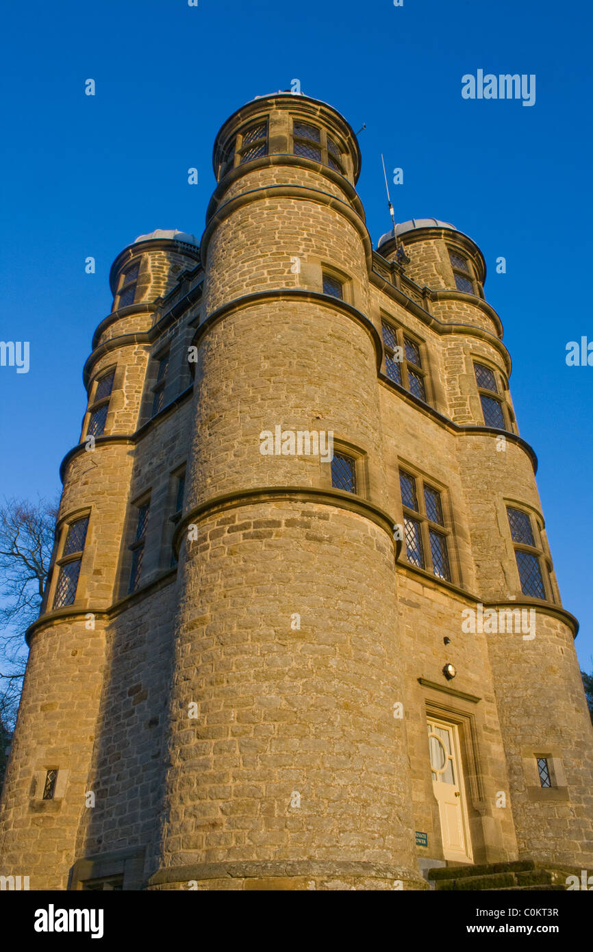 The Hunting Tower at Chatsworth Derbyshire UK - Stock Image