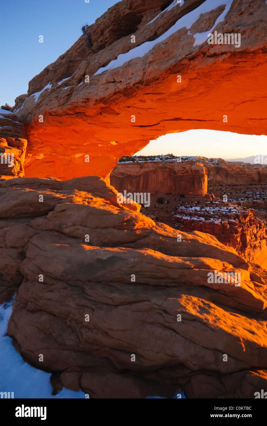 Mesa Arch, Canyonlands National Park, Utah - Stock Image