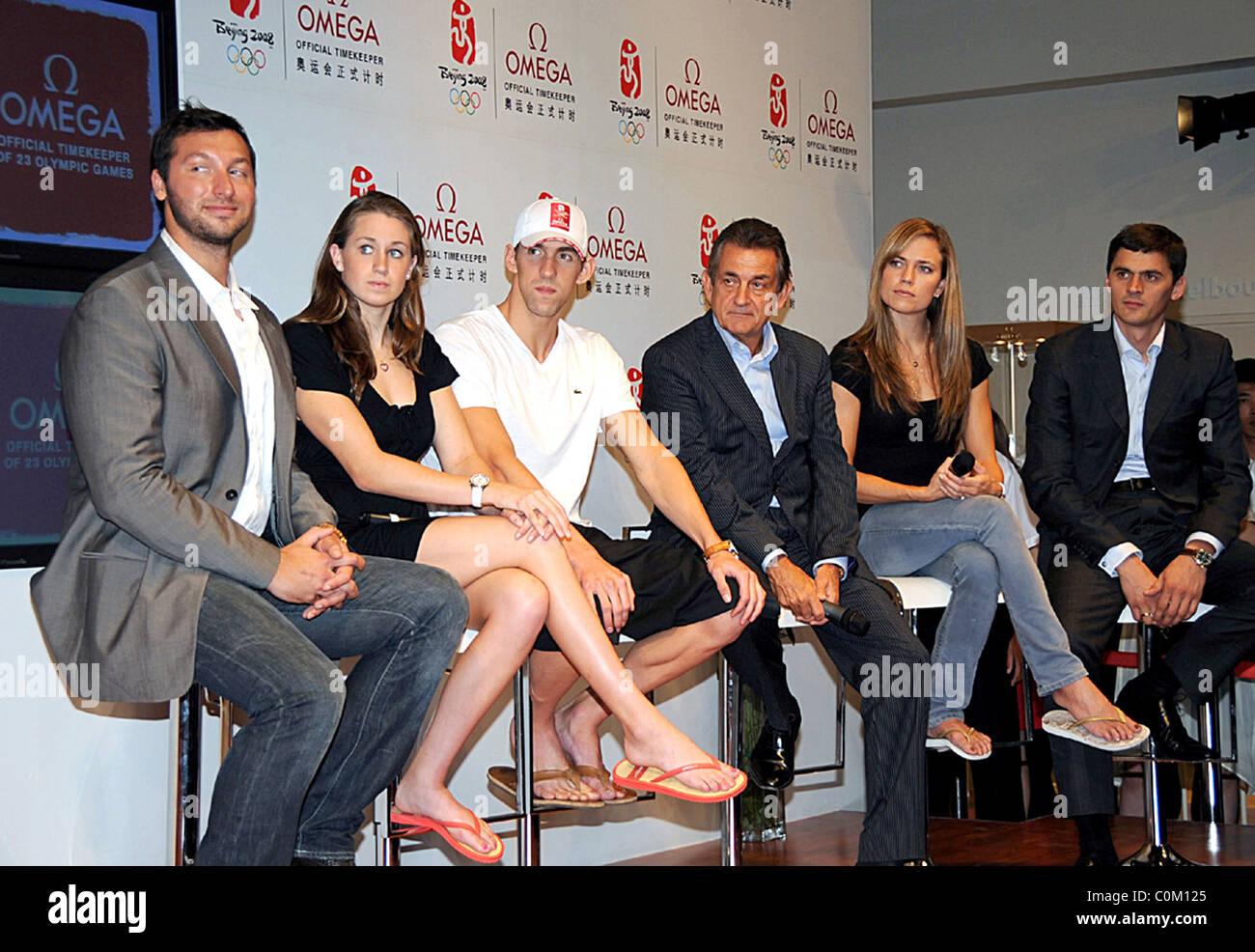 Ian Thorpe, Katie Hoff, Michael Phelps, Natalie Coughlin ...