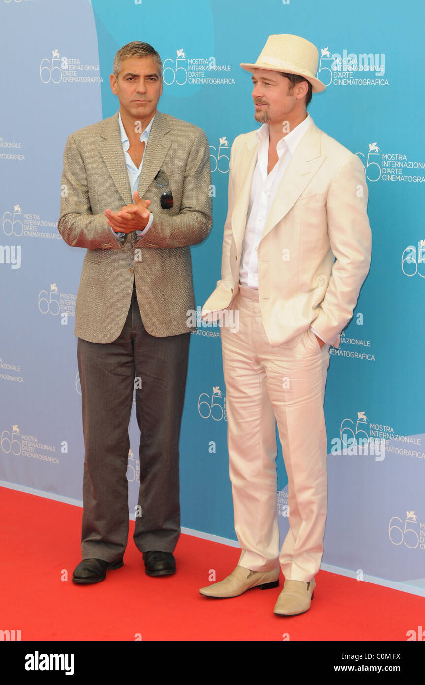 488c926626a George Clooney and Brad Pitt 65th Venice Film Festival - Day 1 -  Burn  After Reading  photocall Venice