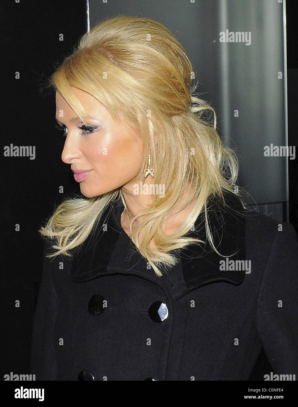 Paris Hilton Wearing Some Hideous Hair Extensions Possibly From Her