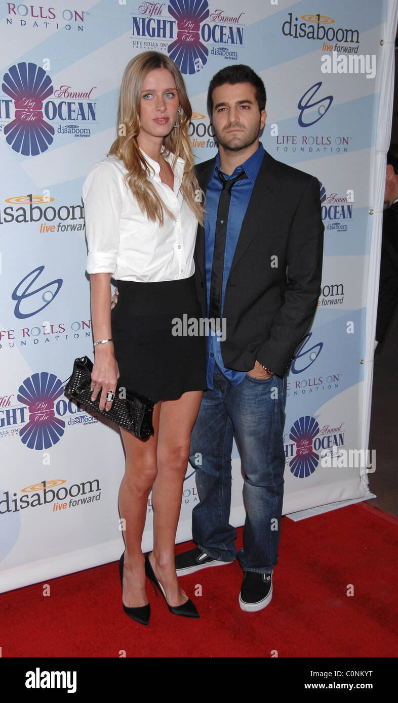 Nicky Hilton and David Katzenberg Attends Life Rolls On Foundation's 'Night By the Ocean' held at Grand Ballroom Stock Photo