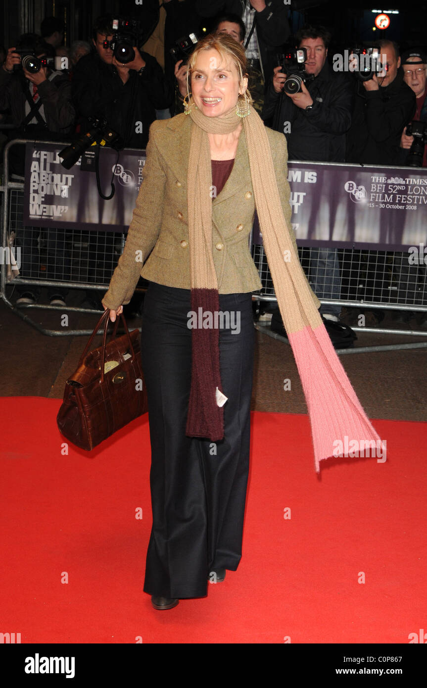 Maryam D'Abo The Times BFI London Film Festival at Odeon West End - 'Dean Spanley' premiere - Arrivals - Stock Image