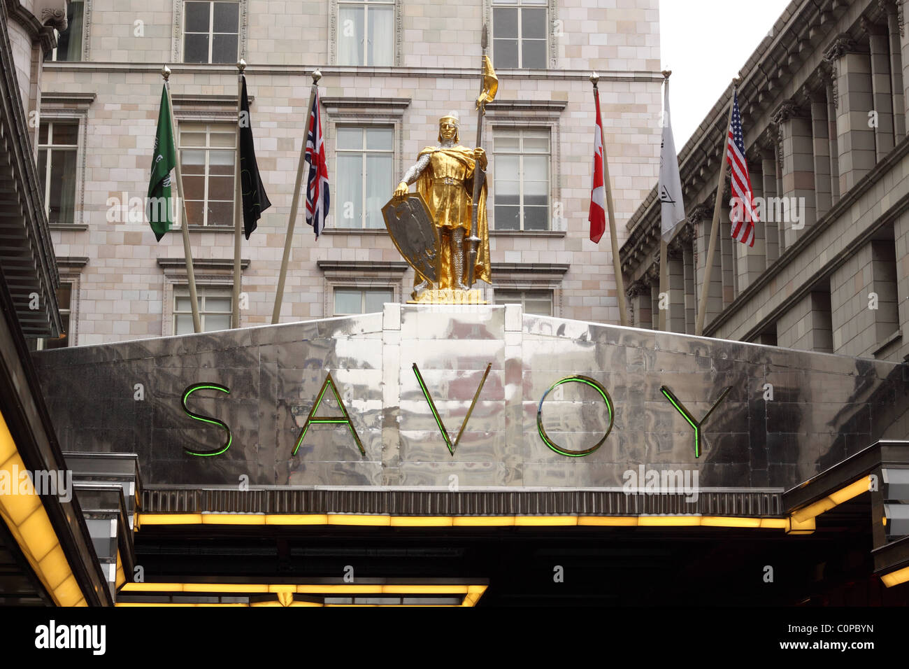The Savoy Hotel, Strand, London - Stock Image