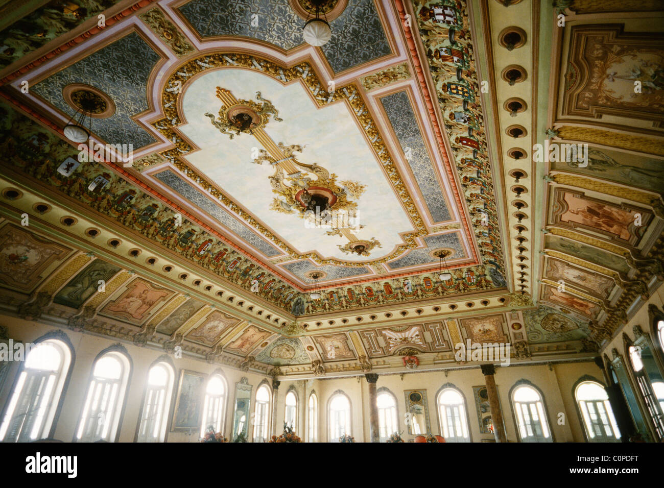 Havana. Cuba. The ornately decorated Palacio de los Matrimonios aka Casino Espanol. - Stock Image