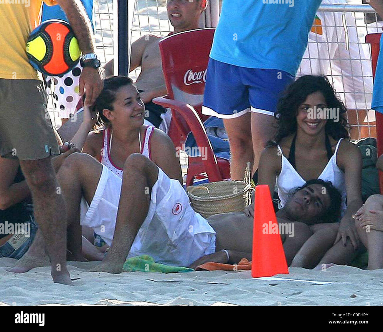 Rafa Nadal At The Beach With His Girlfriend Maria Francisca Perello Stock Photo Alamy