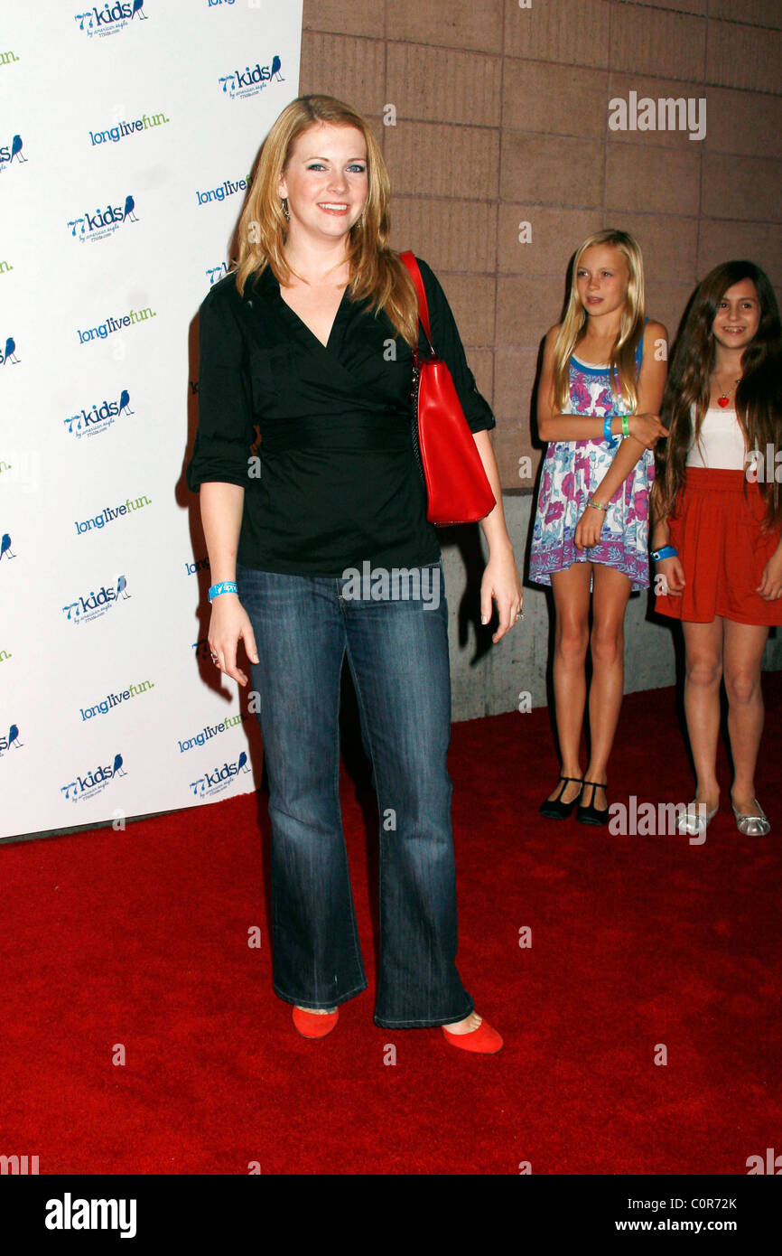 Melissa Joan Hart Jonas Brothers Celebrate the Launch of 77Kids held at The Roxy Hollywood, California - 14.11.08 Stock Photo