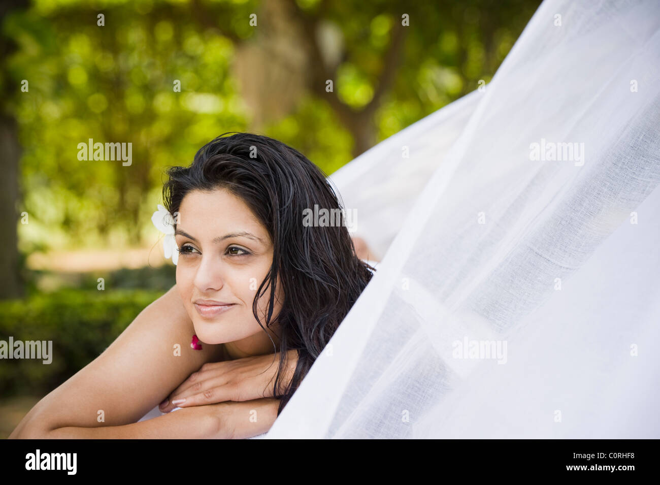 Woman getting spa treatment - Stock Image