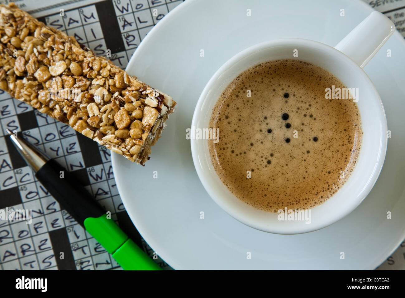 Crossword Puzzle And Coffee Stock Photos & Crossword Puzzle And ...