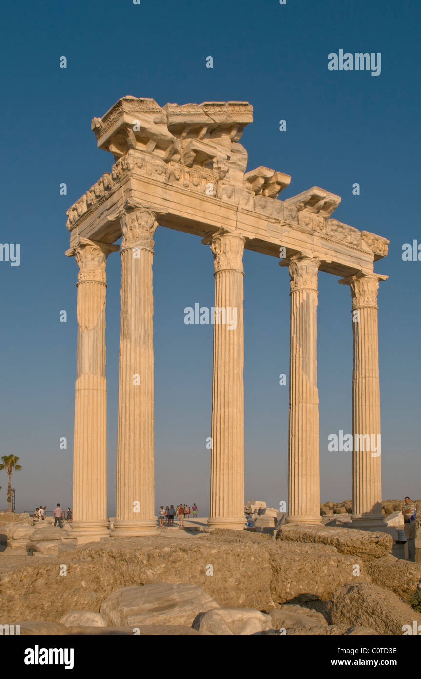 Temple of Apollo in Side,Antalya province, on the southern Mediterranean coast of Turkey - Stock Image