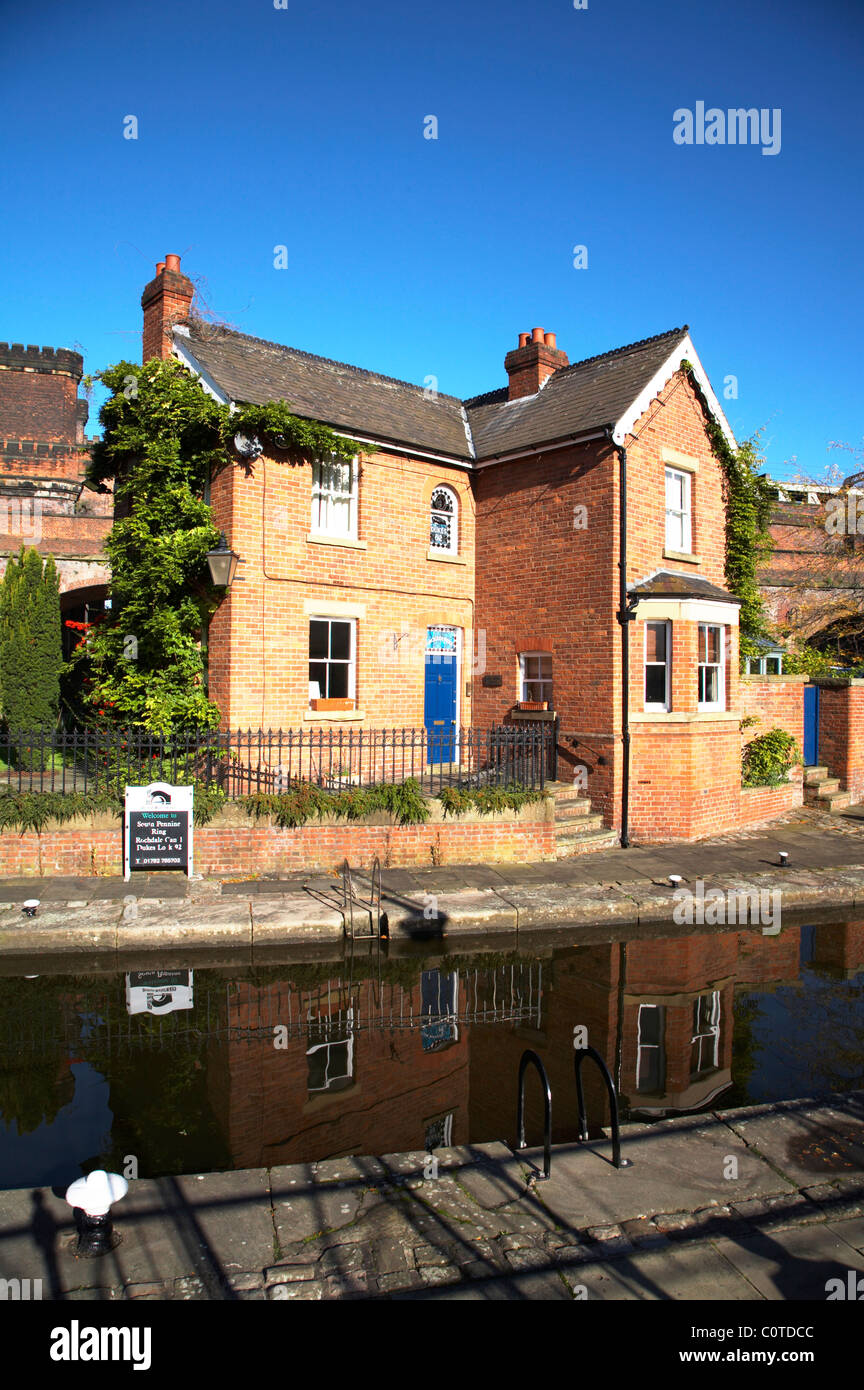 Lock keepers cottage in Castlefield Manchester UK - Stock Image