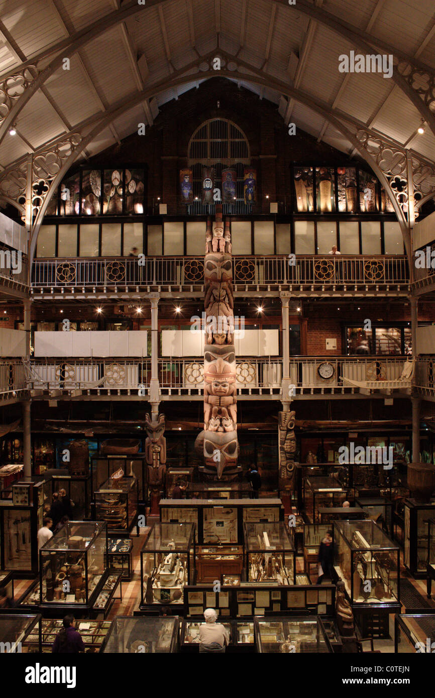 Inside the Pitt Rivers Museum, Oxford - Stock Image