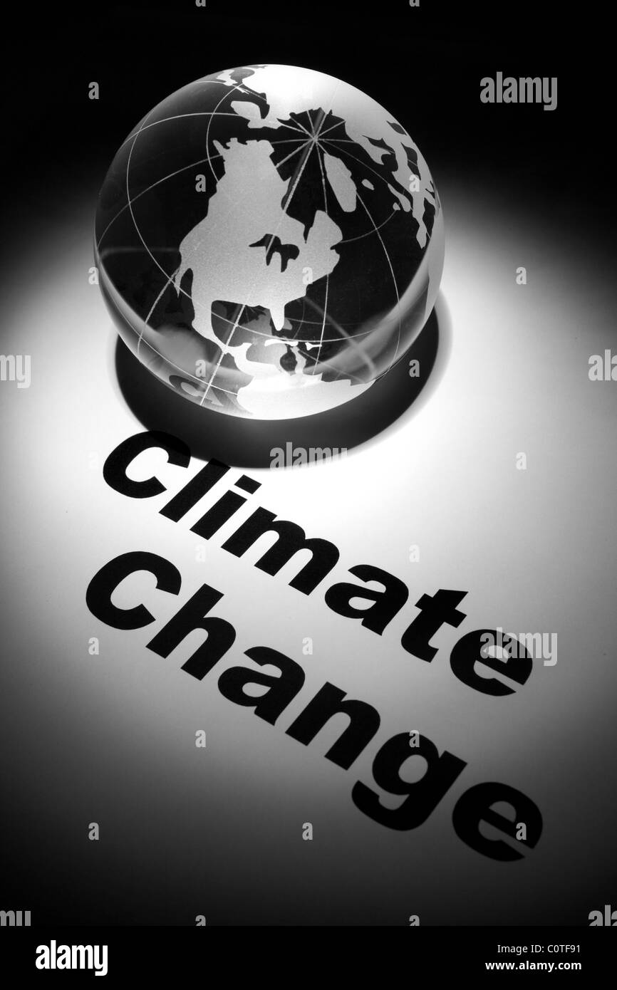 globe, concept of Global Climate Change - Stock Image