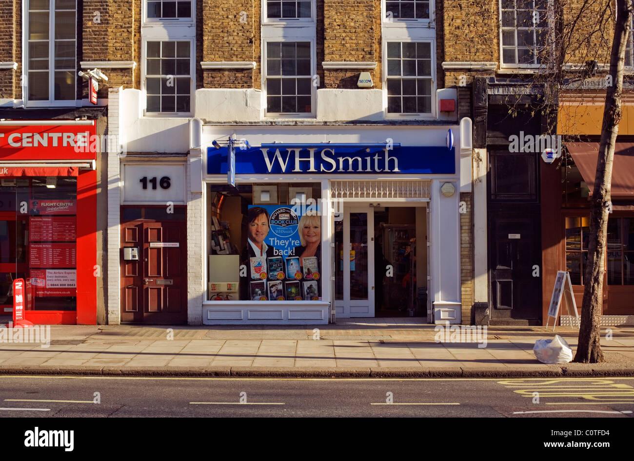 WH Smith, newsagents, shops, Baker Street, London, England, UK, Europe - Stock Image
