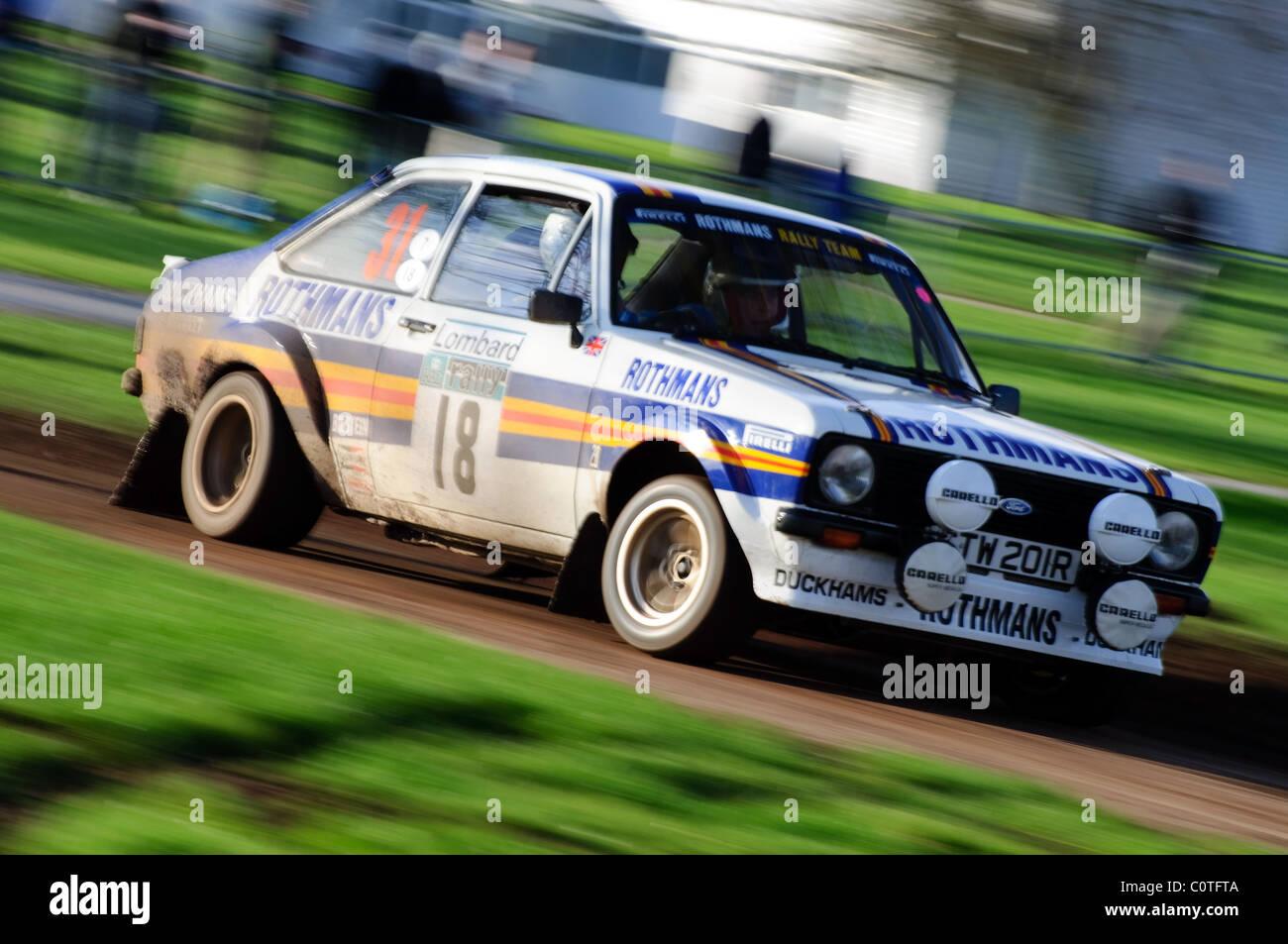 1981 Ford Escort MKII, Alan Watkins - Race retro, Stoneleigh Park - Stock Image