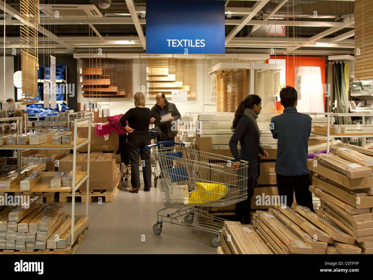 textile department ikea store wembley london stock. Black Bedroom Furniture Sets. Home Design Ideas