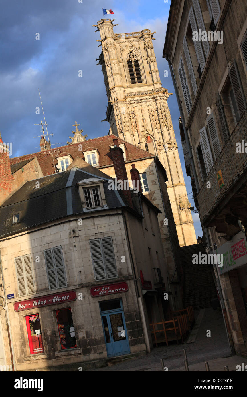 Church of Saint Martin in Clamecy, Nievre, France - Stock Image