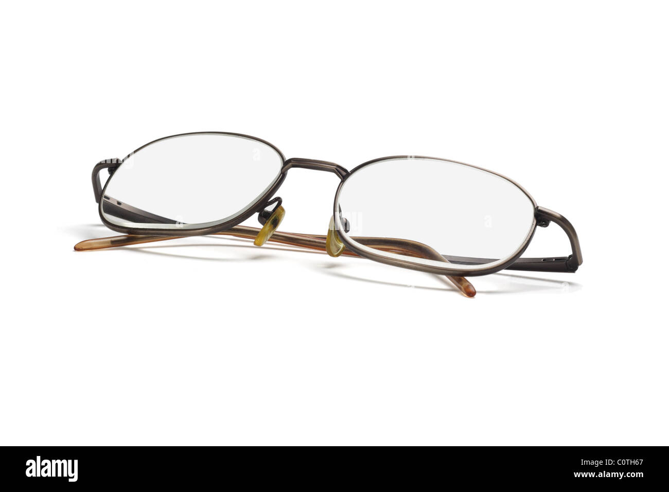 Metal frame eye glasses isolated on white background Stock Photo ...