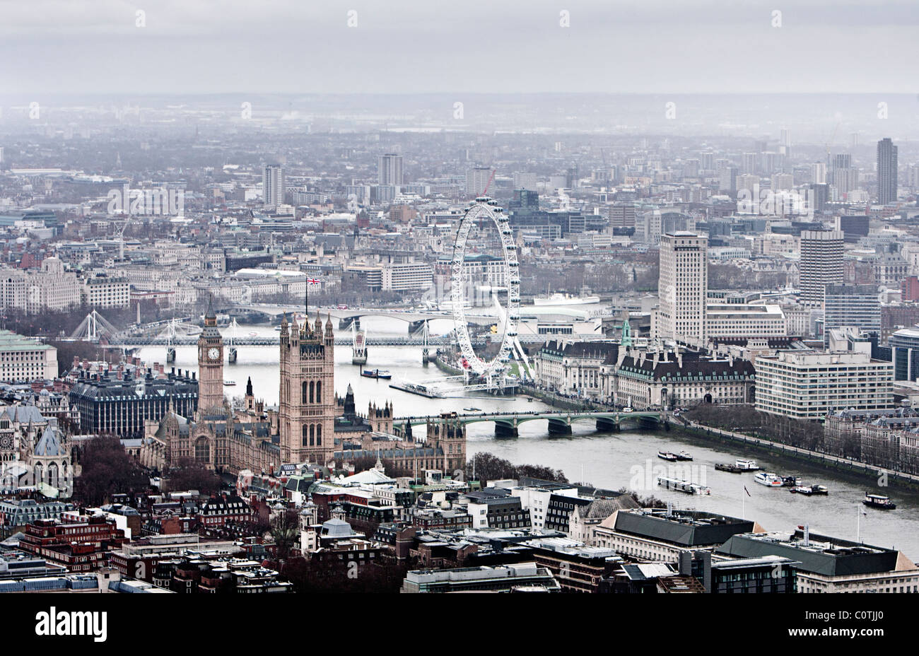 Aerial View of the City Of London, Greater London - Stock Image