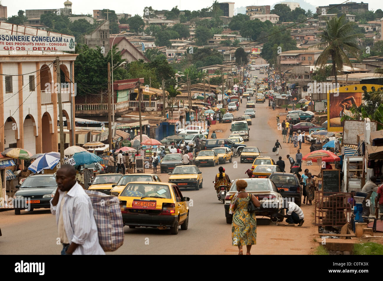 Yaounde, a city of 1.1 million, is the capital of Cameroon, West Africa. - Stock Image