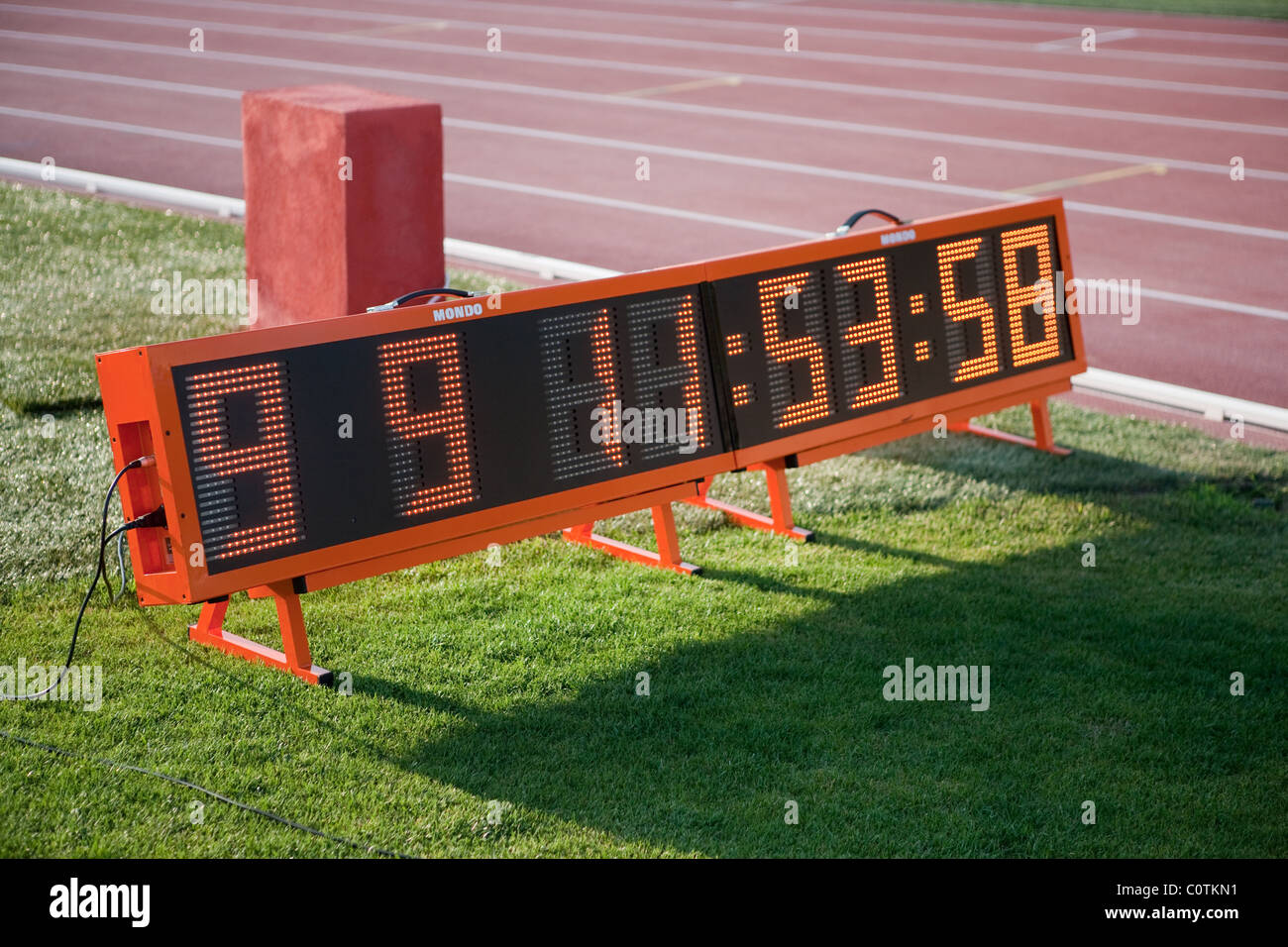 Athletics track timer digital instrument Sport outdoor competition race - Stock Image