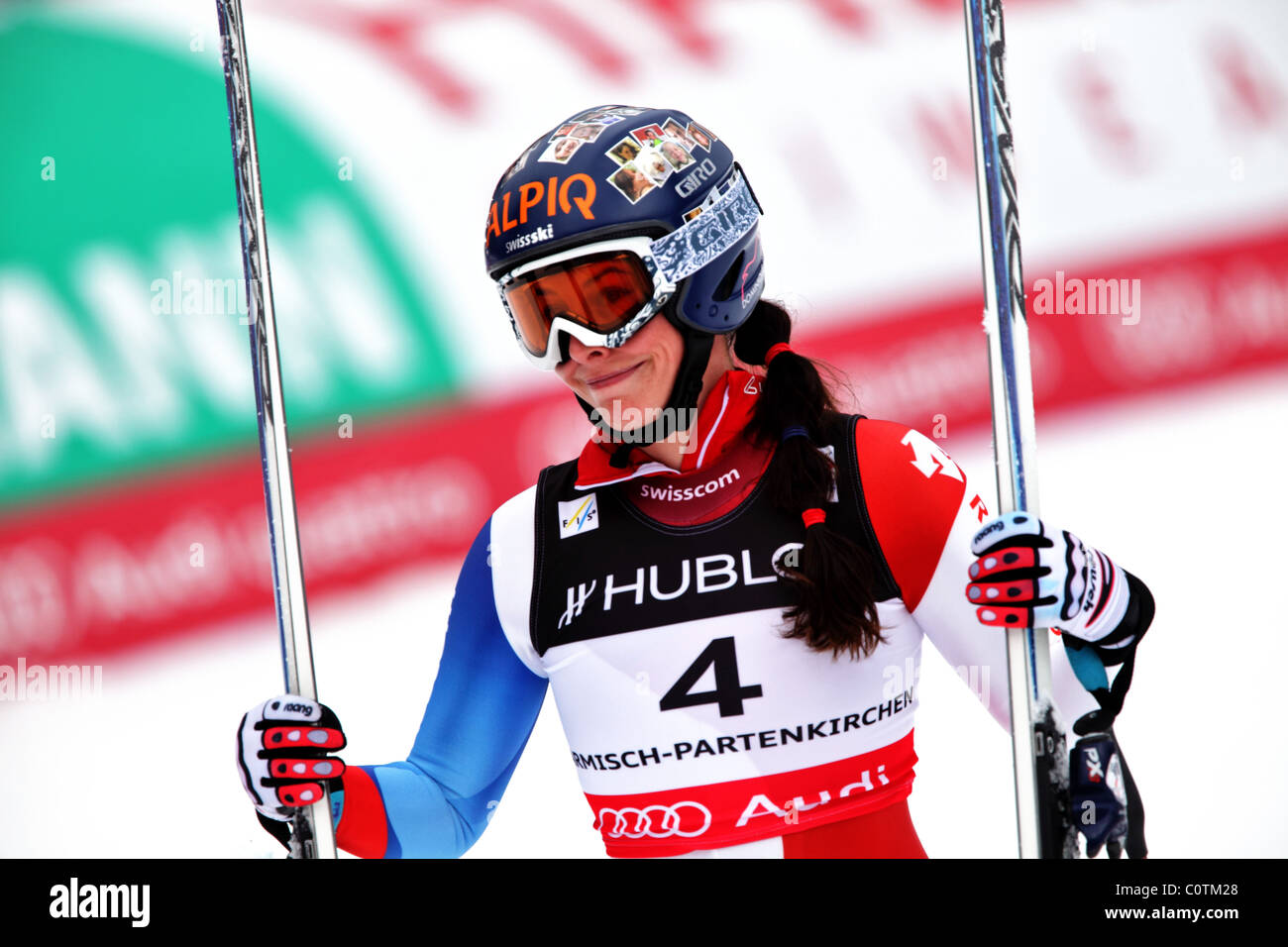 Dominique Gisin (SUI) at the FIS Alpine World Ski Championships 2011 in Garmisch-Partenkirchen - Stock Image