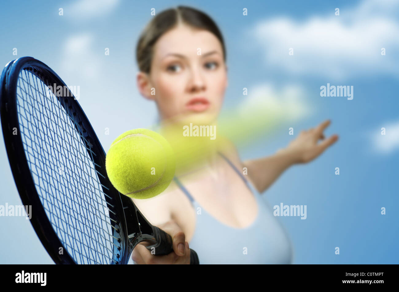 girl playing tennis Beautiful