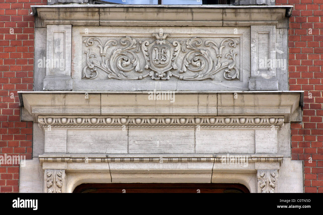 Architectural detail in the classicism style - Stock Image