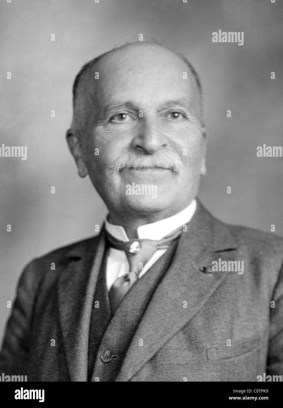 Vintage portrait photo c1910s of French chemist Paul Sabatier (1854 - 1941) - co-winner of the Nobel Prize in Chemistry - Stock Image