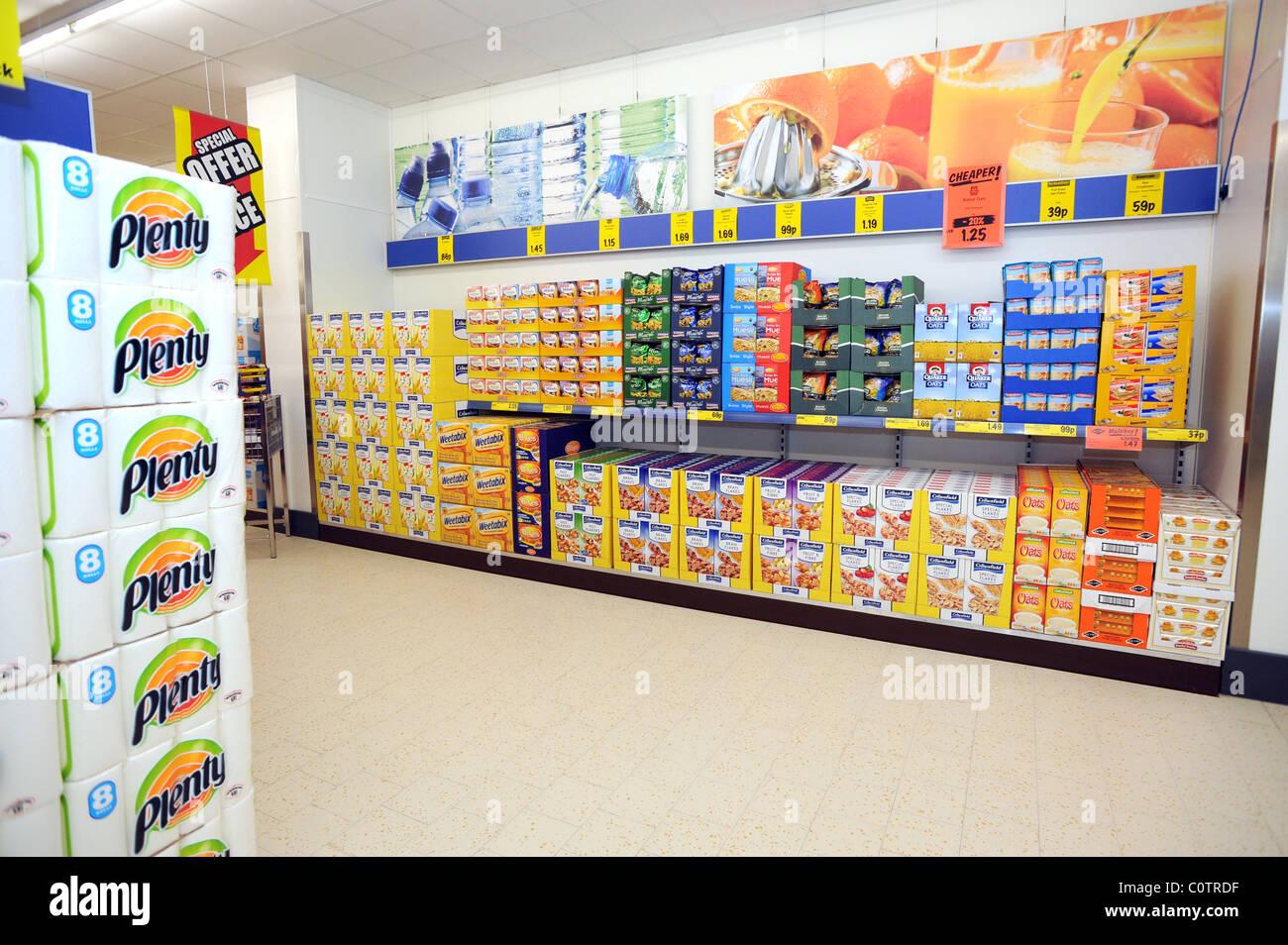 Supermercato Discount Lidl a Newhaven Cereali per la colazione-3309