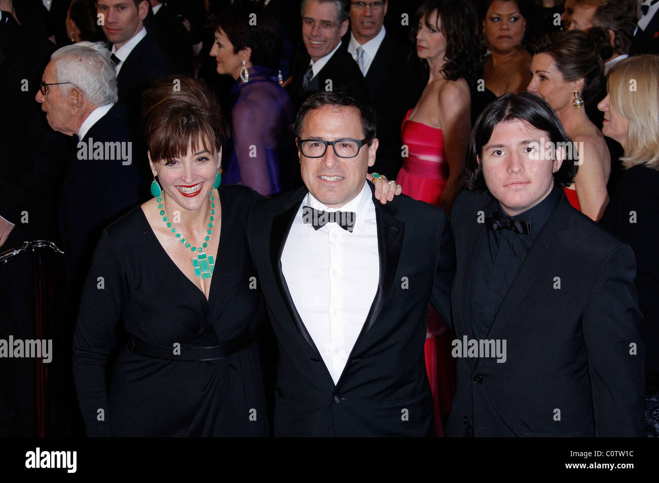DAVID O. RUSSELL & GUESTS 83RD ACADEMY AWARDS RED CARPET ARRIVALS KODAK THEATRE LOS ANGELES CALIFORNIA USA 27 - Stock Image