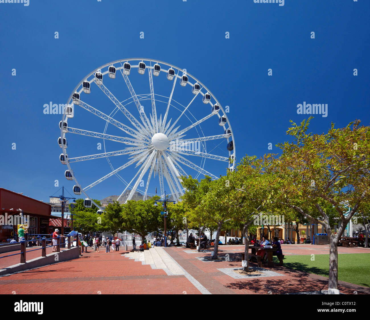 The Wheel of Excellence on V&A Waterfront in Cape Town. Western Cape, South Africa. - Stock Image