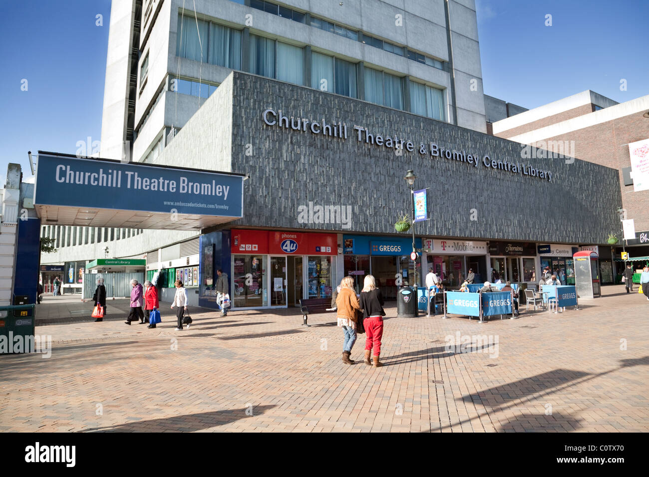 Bromley high street bromley kent uk stock photo for The bromley