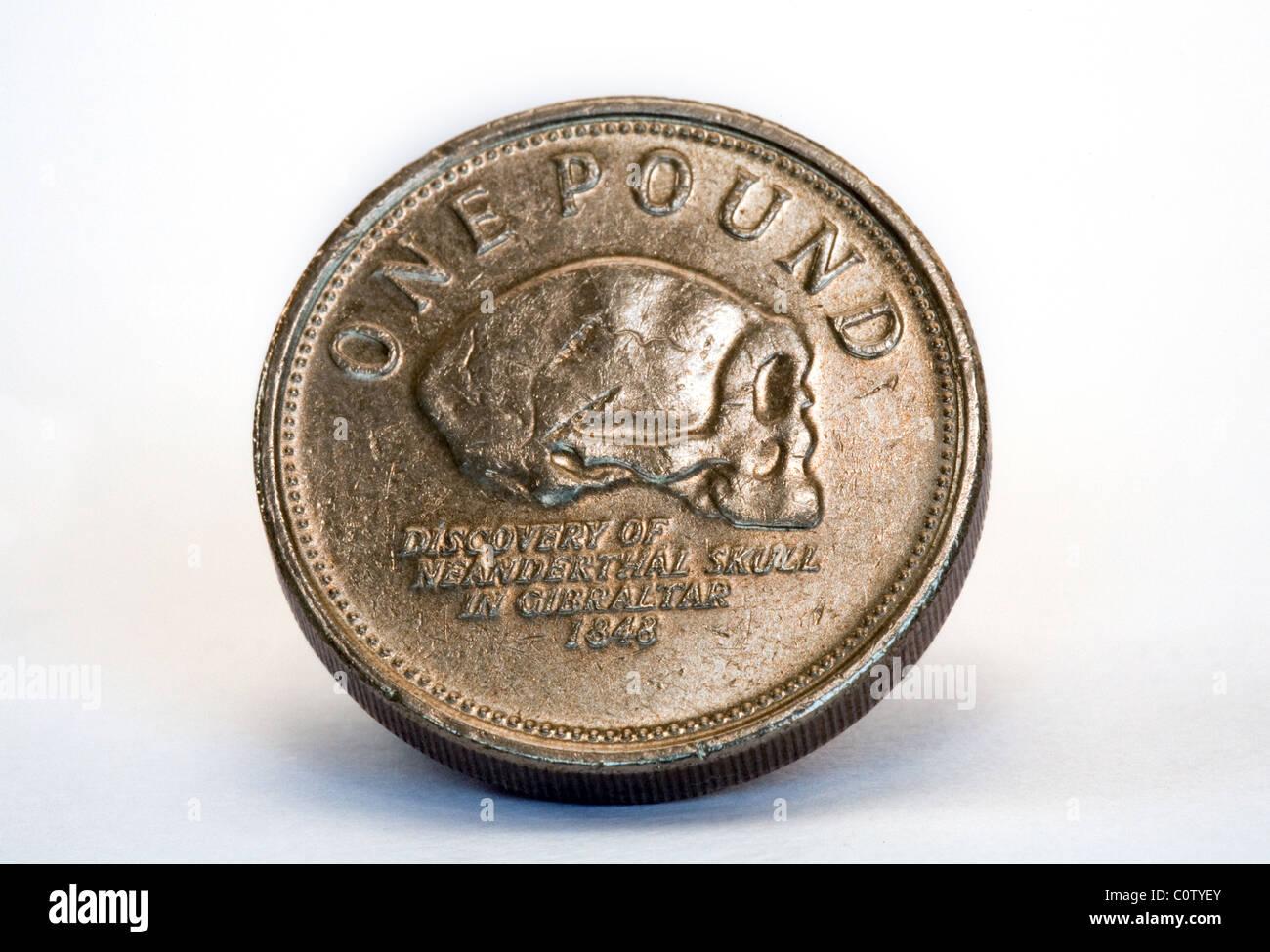 A £1 Gibraltar coin - Stock Image