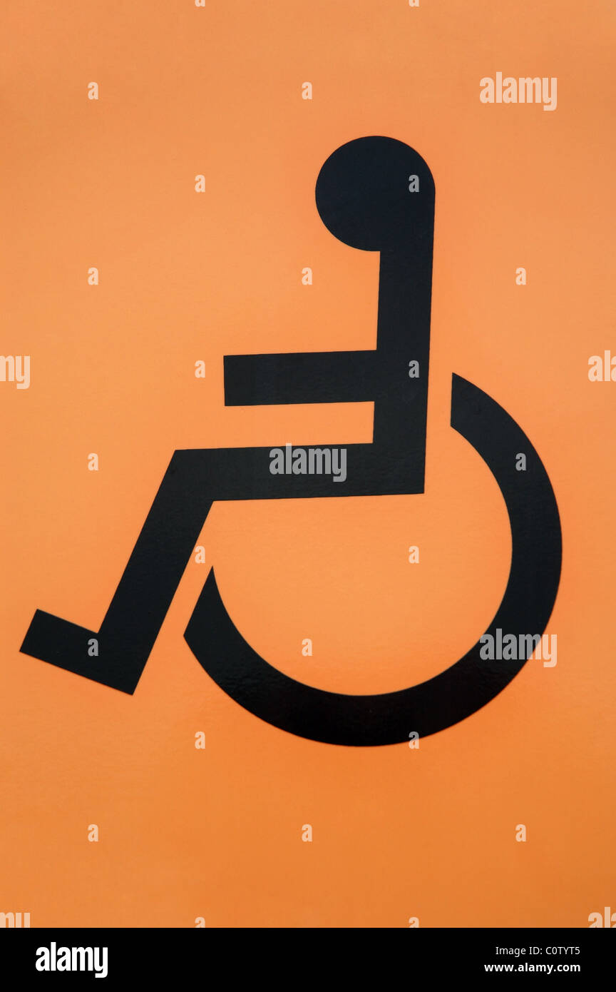 disabled access sign, England, UK - Stock Image