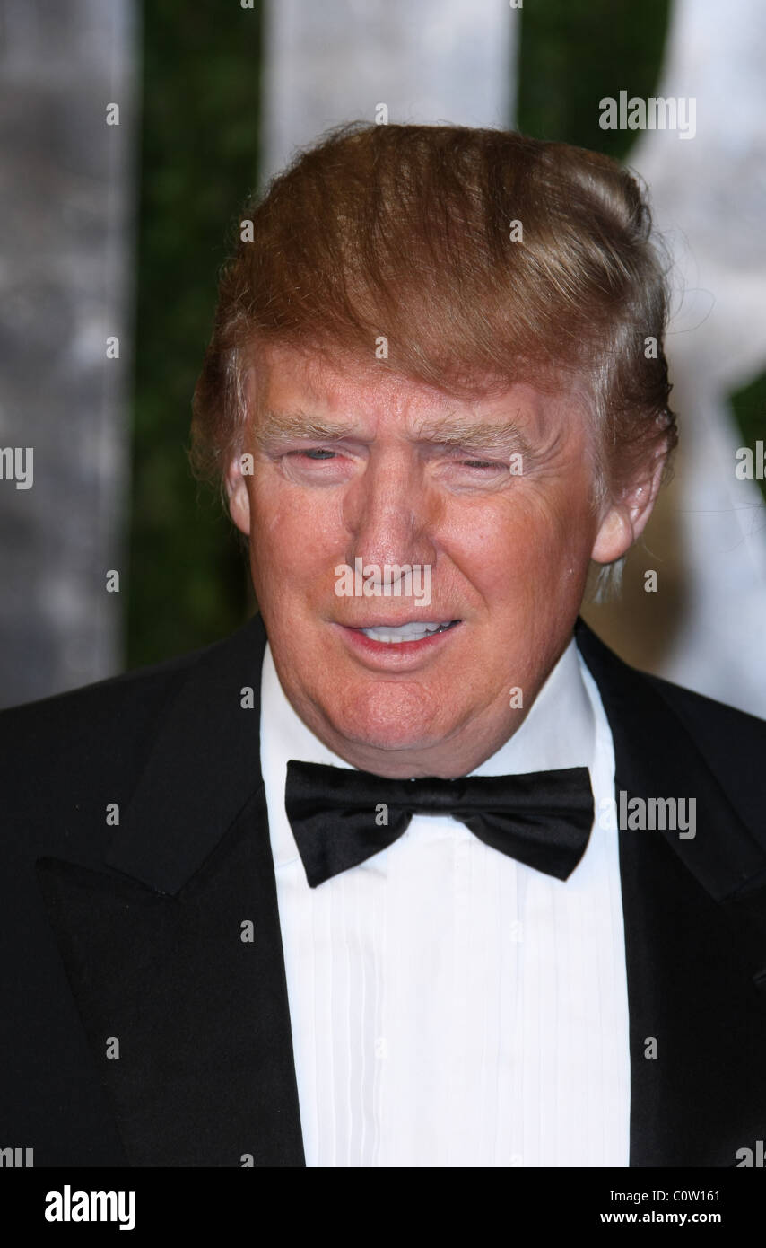 DONALD TRUMP 2011 VANITY FAIR OSCAR PARTY LOS ANGELES CALIFORNIA USA 27 February 2011 - Stock Image