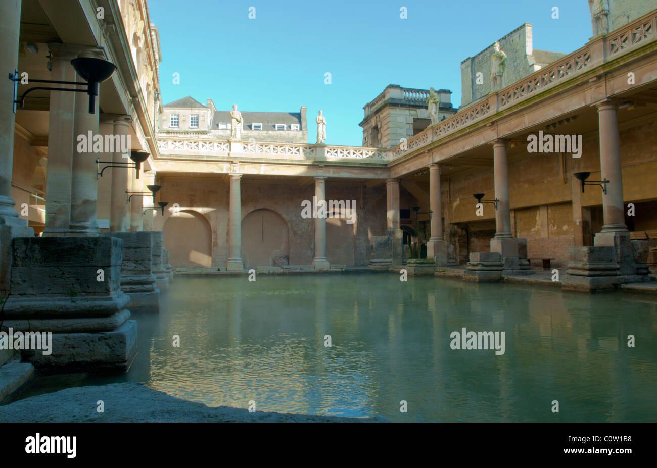 Great Bath. The Roman Baths, Bath, Somerset, UK. - Stock Image