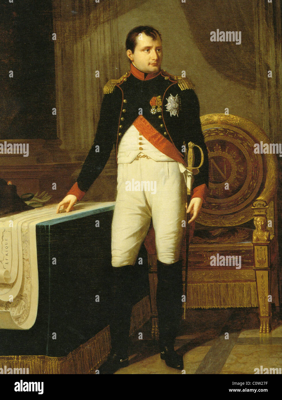 NAPOLEON BONAPARTE (1769-1821) in the uniform of a Colonel of the horse  soldiers of the Imperial Guard