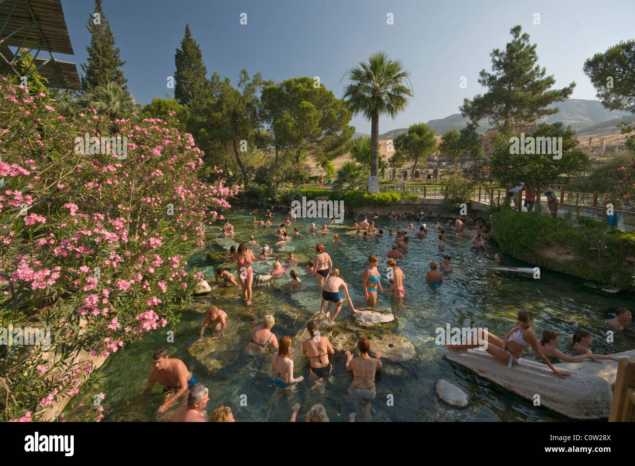Pamukkale is a natural site in Denizli Province in south-western ...