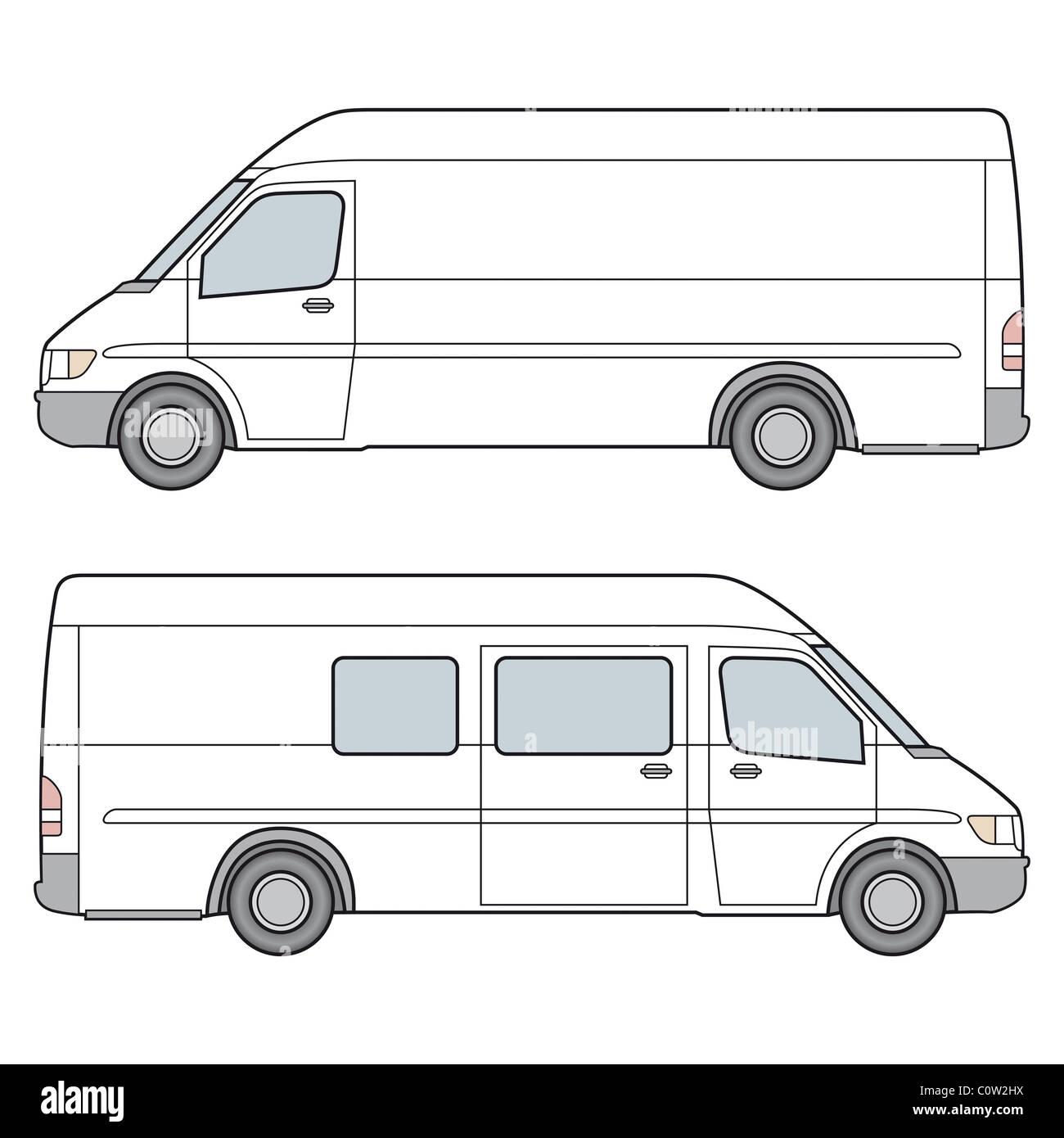 Minibus - Stock Image